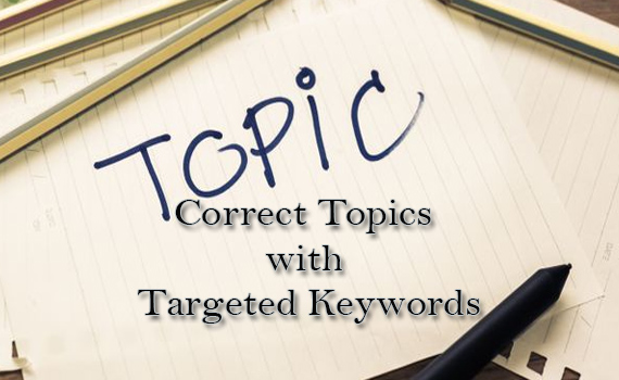 Correct Topics with targeted Keywords